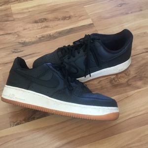 Nike Air force 1, black leather